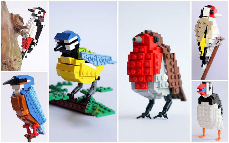 <p>A visit from a Robin Red Breast prompted Tom Poulsom to start creating &quot;feathered&quot; friends out of Lego bricks. Here is a selection from  his British Bird Series.</p>