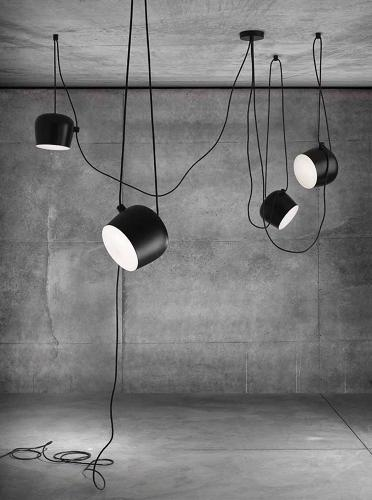 <p>Unlike traditional chandeliers, Aim can be hung anywhere in a given space, instead of strictly at the intersection of room diagonals.</p>