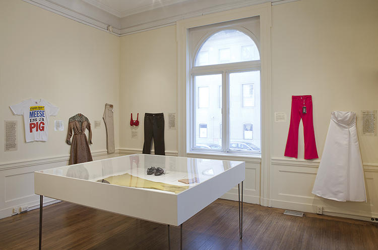 <p>The show includes a video of Spivack reading eBay descriptions of garments.</p>