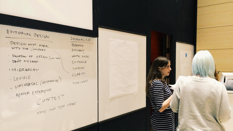 <p>Journalism + Design, the latest program at the The New School in New York City is teaching journalists how to think like designers, and designers how to think like journalists.</p>