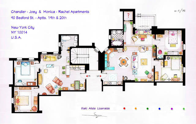 An interior designer explains the unlikely apartments of Seinfeld apartment floor plan