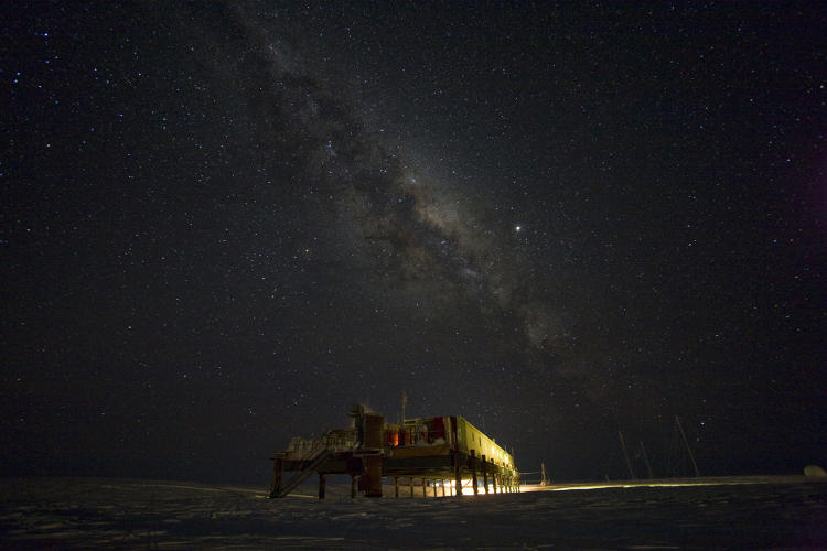 "<p><strong>BEYOND IMAGINATION.</strong>  Antarctica's clear air makes the continent the perfect laboratory for studying space and understanding more of our universe. The Milky Way is clearly visible in this long-exposure time-lapse of the sky above the British Antarctic Survey's Halley Research Station, near the Weddell Sea. ""The extraordinary thing about the polar regions is the sheer power of nature--the elements, wind, cold, force of the ocean leaves you feeling small,"" says Fothergill. ""We live in a smaller, crowded world that seems to shrink the size of the planet. We wanted to take people to this place, that most will never visit, and, for most, is beyond imagination.""</p>"