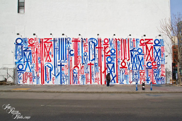 <p>Los Angeles graffiti artist <strong>Retna</strong>. This mural is on display at Bowery and Houston streets in New York.</p>