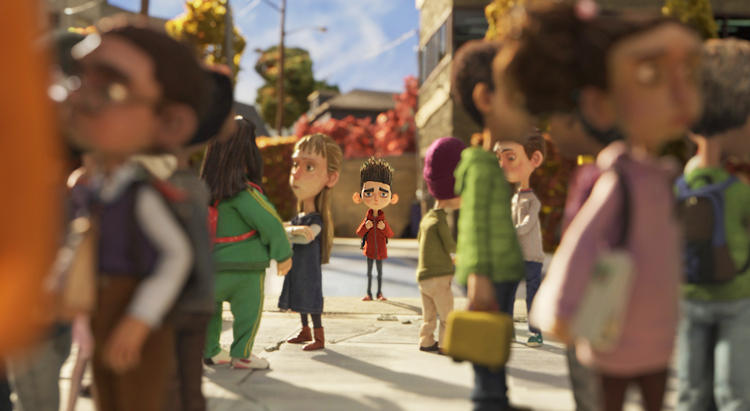 <p>The <em>ParaNorman</em> cast is huge, 178 total puppets, including multiples of the main characters. It's the first stop-motion film to use a 3-D color printer to make replacement faces--31,000 face parts in all.</p>