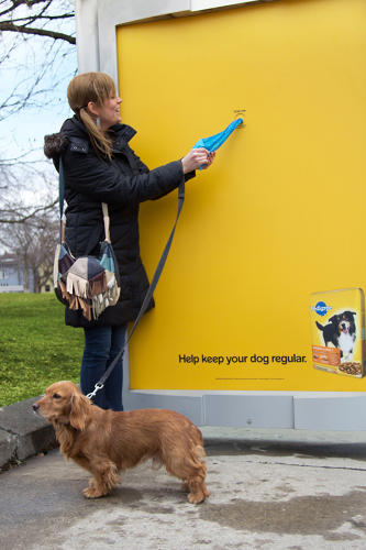 <p>UTILITY: Pedigree's poop bag bus shelters</p>  <p>Brand utility, where brands turn advertising into a useful service or product for their consumers, has been a buzzword for years. But for anyone who's ever had the distinct displeasure of stepping in a steaming pile, or, been walking the family hound and realized too late that they were bagless, Pedigree's poop bag bus shelters soar well beyond being useful and venture more into community service territory. For the month of March, Promixity BBDO turned a bus shelter next to a popular downtown Toronto park into a poop bag dispenser, at once promoting Pedigree's digestion-aiding Chicken &amp; Rice Dry Food with prebiotics and sparing innocent park-goers from the byproduct of forgotten poop bags.</p>