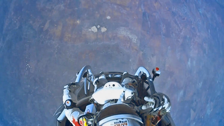 "<p>Before he stepped off the capsule platform, Baumgartner said: &quot;I know the whole world is watching now and i wish the world could see what I see…Sometimes you have to go up really high to understand how small you are.""</p>"