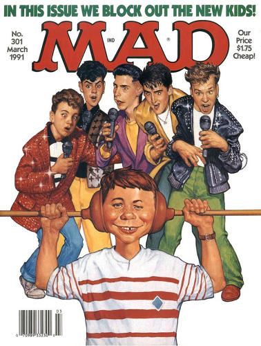 "<p>March, 1991 - This New Kids on the Block cover generated tons of hate mail, says Ficarra, ""mostly from teenage girls telling us we were jealous of the New Kids looks and money. The girls were right.""</p>"
