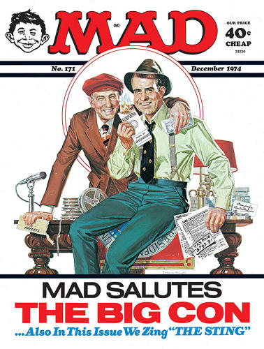 "<p>December, 1974 – This cover, brainchild of then-co-editor Nick Meglin, was the first time <em>Mad</em> took a hard shot at a politician on its cover, representing a change in editorial direction from solely spoofing pop culture to encompassing the greater sociopolitical zeitgeist. Ficarra says the fact that anyone is using the phrase ""sociopolitical zeitgeist"" in connection with <em>Mad</em> troubles him deeply.</p>"
