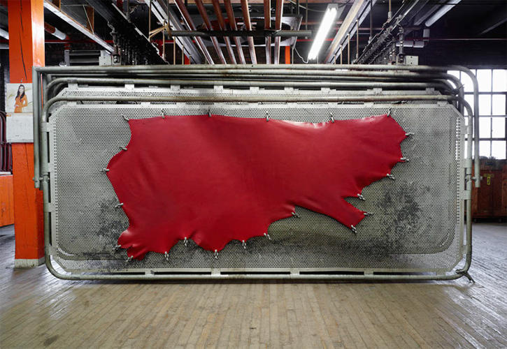 <p>Dyed leather for Shinola at Horween</p>
