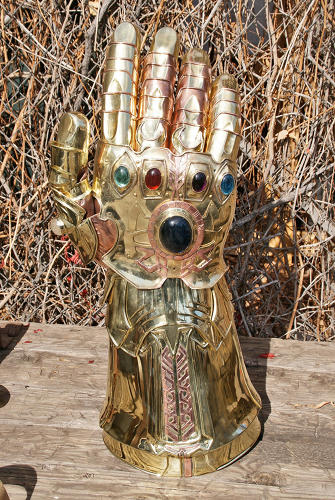 <p>&quot;For this film, I did the guard swords and the Infinity Gauntlet, which is essentially a golden glove with gems on it. I also created the Infinity Sword. Most of these pieces were only briefly shown on screen, though.&quot;</p>