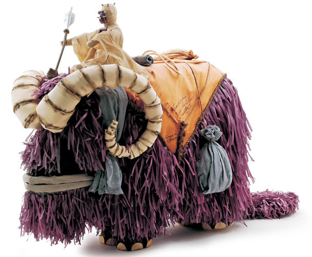 <p>This Tusken Raider riding a bantha won first prize in the piñata category at a Mexico City Star Wars convention more than a decade ago. I loved how the maker channeled his love for the movies into such a fun and creative piece, and it really cemented my love for fan-made collectibles.</p>
