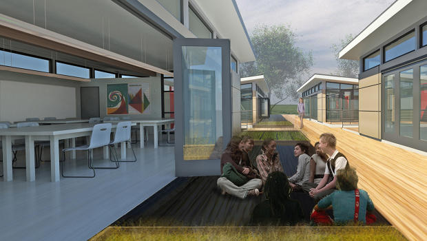 Sprout Modular Classroom ~ An eco modular classroom that helps kids learn co sign
