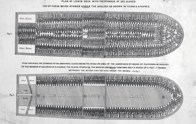 Image result for slave ship drawing