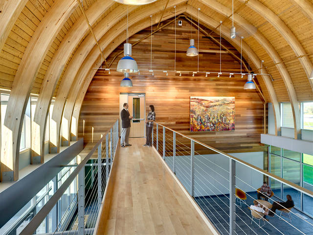 Old dairy barn becomes a green redoubt of design ed co for Dairy barn plans