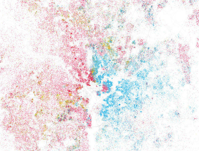 <p>Almost no one thinks of their city as segregated, but this remarkable series of charts by Eric Fischer explodes that assumption. Fischer color coded population figures for all of America's largest cities, and created maps that show just how integrated or segregated each one has become.</p>