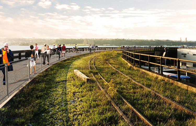 <p>The point of an interim park instead of just waiting to build something permanent? &quot;People will get to see the High Line the way that it was [before the new development],&quot; Lisa Switkin, of James Corner Field Operations, says.</p>