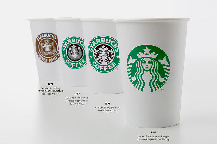 <p>In 2011, Starbucks made a radical change to its classic logo, dropping its name and leaving a magnified version of its famed siren. Why? The move is a part of the 40-year-old company's master plan to expand into other countries and expand its line beyond coffee. It also signaled that it had achieved mega-brand status, as the most established companies can be recognized by their logos alone.</p>