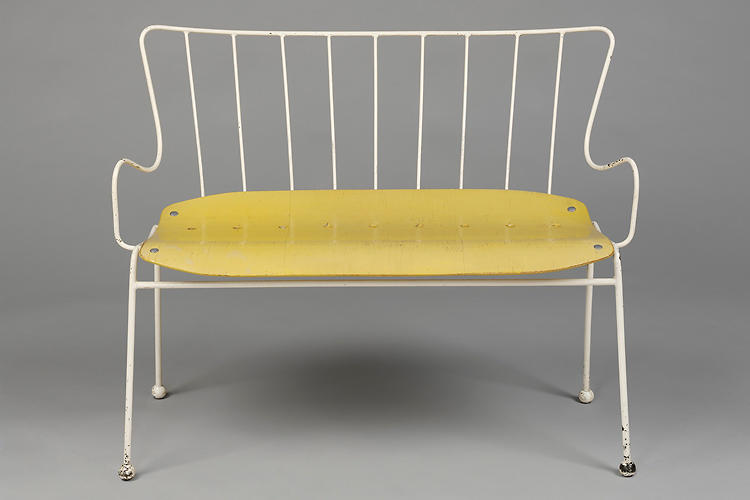 <p>Industrial designer Ernest Race created this outdoor bench for the Festival of Britain in 1951.</p>