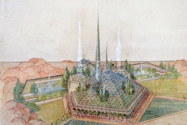 <p>Frank Lloyd Wright dreamed up this extraordinary--if perhaps too far-fetched--proposal for the Arizona state capitol building in 1957. It was never built.</p>
