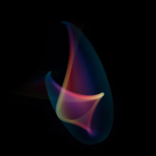 <p>For others, he made custom video loops of light and shapes and moved his iPhone freehand.</p>