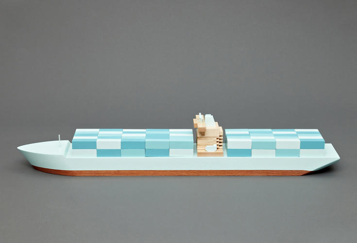 <p>The Emma Maersk is the longest container ship <br /> in the world. She also has the world's largest <br /> diesel engine, producing nearly 110,000 horsepower.</p>