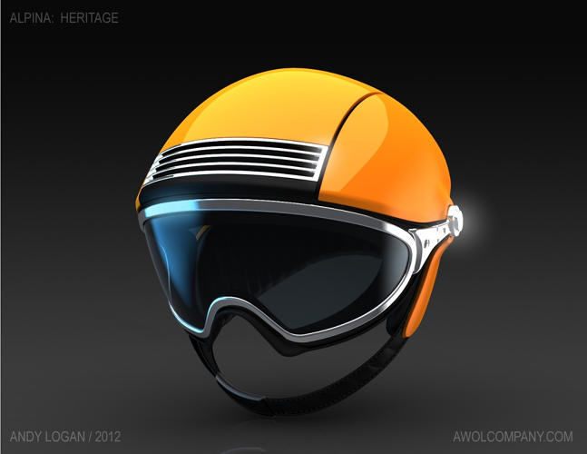 <p>Andy Logan cleaned up the detail and rethought the shape of the goggles on his Ski Helmet…</p>