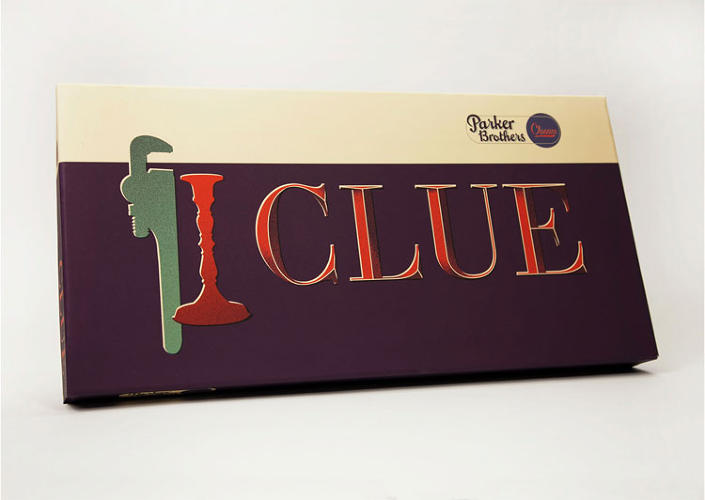 <p>&quot;For Clue, I was heavily inspired by setting of the storyline behind the game--a mansion set in post-war New England (maybe that was just the movie?). The type and texture evoke a romantic mystery, and the color palette, dark but vibrant, reflects the colorful characters involved.&quot;</p>