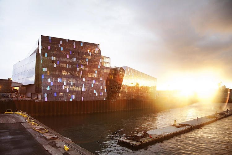 <p>The hulking concert hall and conference center is expected to become a tourist hub on Reykjavik's revitalized harbor.</p>