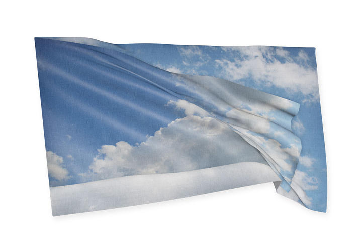 <p>Three German graphic designers, Manuel citizen, Till Wiedeck, <br /> Timm Häneke, applied a placid blue sky to their contribution. &quot;Our flag is playing with the associations of freedom and belonging,&quot; the group writes. &quot;The territorial nation-state is a model of yesterday.&quot;</p>