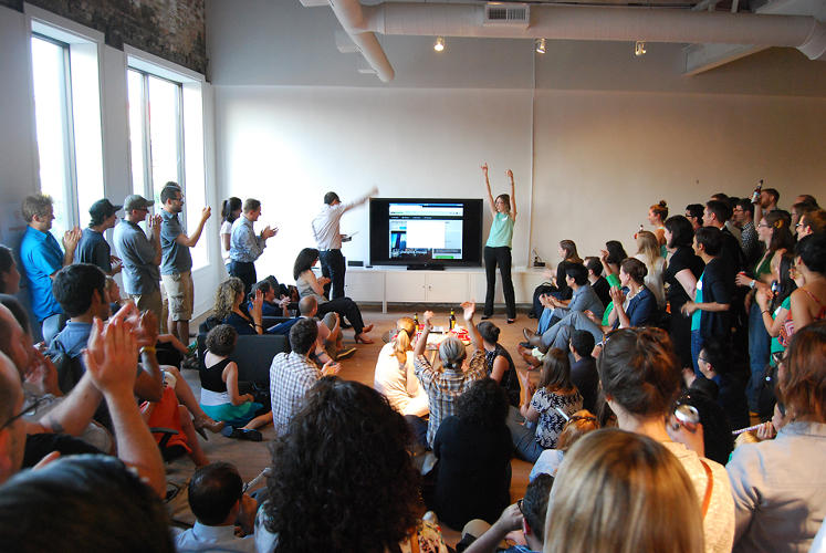 <p>A July 9th launch party for the project took place in the duo's Logan Square office.</p>