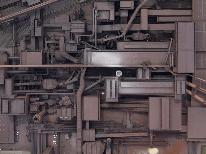 <p>A factory from overhead.</p>