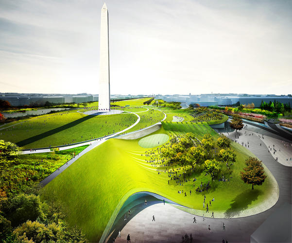 <p>Diller Scofidio Renfro and Hood Design for the Sylvan Theater and Washington Monument grounds.</p>