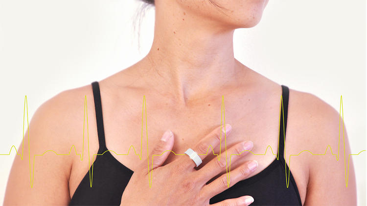 <p>Pulse, a heart-rate monitor shaped like a ring.</p>