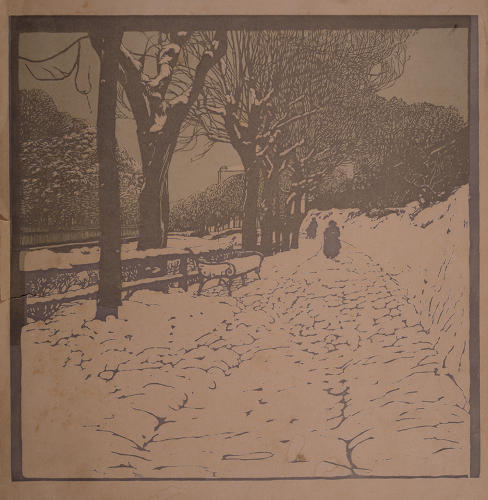 <p>Moll made a series of woodcuts of the Hohe Warte, a hilly section of Döblin, Vienna's 19th district, where he and a group of Secessionists had settled in houses designed by Josef Hoffmann.</p>