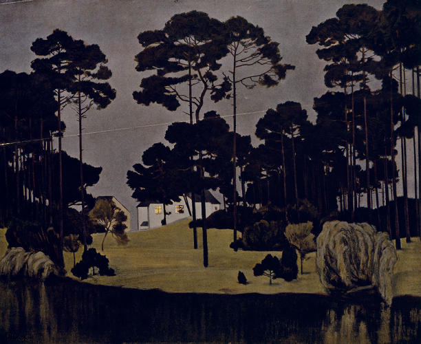 <p>Walter Leistikow helped to found the Berlin Secession, acting as the movement's &quot;heart and soul.&quot; He considered this print, with a villa lit in the middle ground surrounded by dark trees, water, and sky, &quot;one of his most important pictures.&quot;</p>