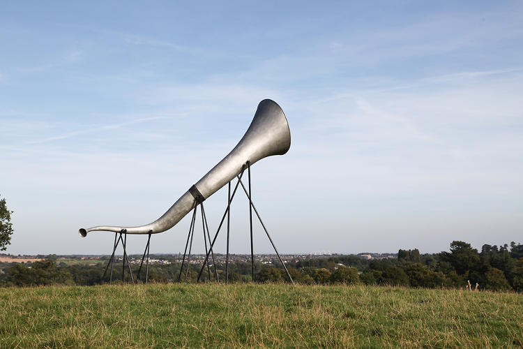<p><em>The Here Hears</em>, a new series of audio sculptures from Studio Weave architects, debuted in the rural English countryside this month.</p>