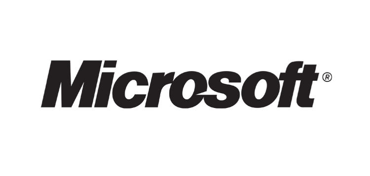 <p>Microsoft introduced the &quot;Pacman&quot; logo, based on Helevetica Black Italic, in 1987. It reigned <a href=&quot;http://blogs.technet.com/b/microsoft_blog/archive/2012/08/23/microsoft-unveils-a-new-look.aspx&quot; target=&quot;_blank&quot;>until 2012</a>.</p>