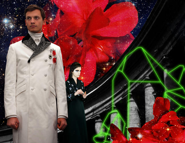 <p>The video frames Prada's collection as as garb worn by a future race of power-hungry humans.</p>