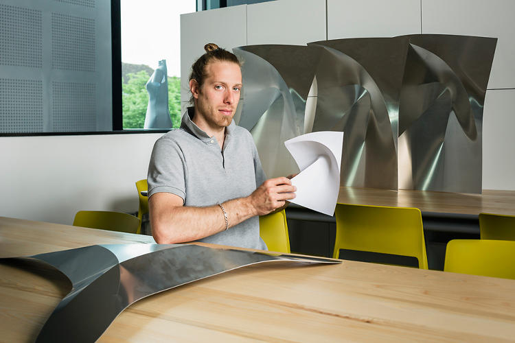 <p>Robofold, which uses industrial robots to make curved folds.</p>