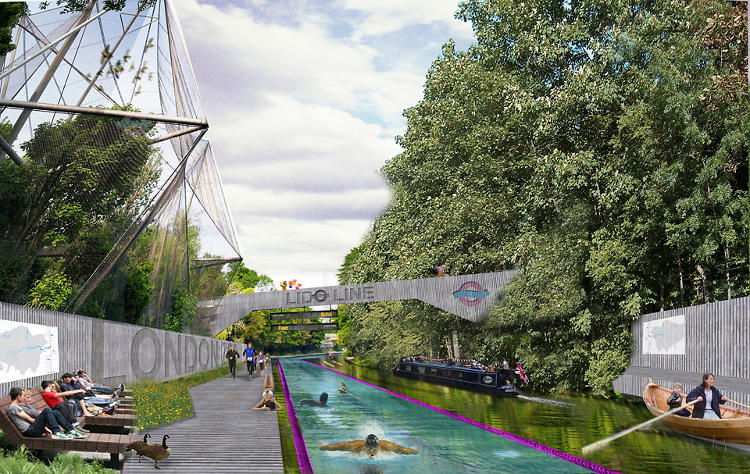 <p>Regent's Canal, a 180-year-old industrial waterway in London, could one day host waterborne commuters.</p>