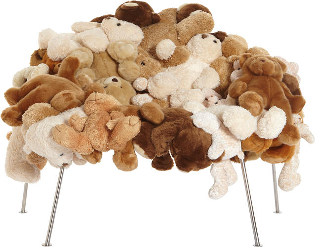 <p>Stuffed toy animals, brushed tubular steel.<br /> Produced by Estudio Campana, Brazil for Moss, USA. (Estimate: $40,000–$50,000)</p>