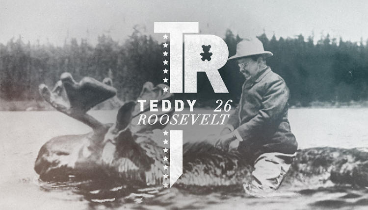 <p>But if Teddy Roosevelt could pick any photo to represent his brand, I wouldn't be surprised if it was this one of him fording a river on a moose.</p>