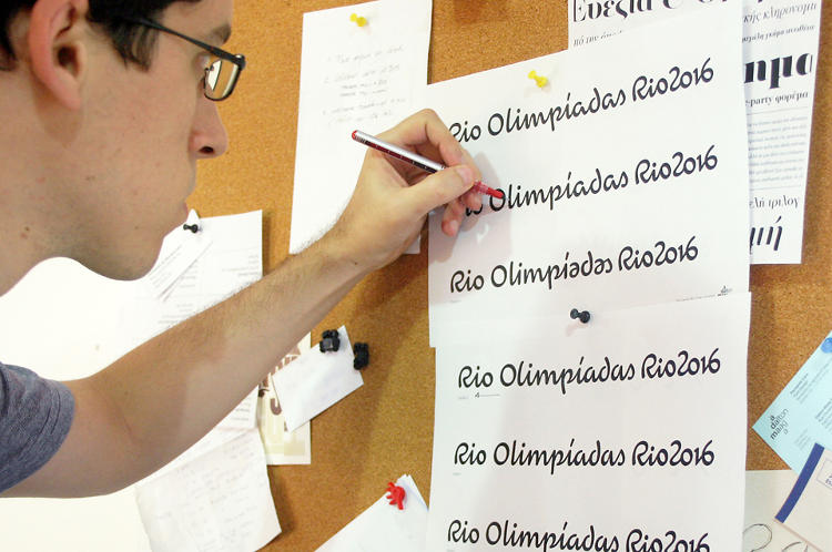 <p>The office keeps a studio in Porto Alegre, where a team of designers developed the typeface over eight months.</p>