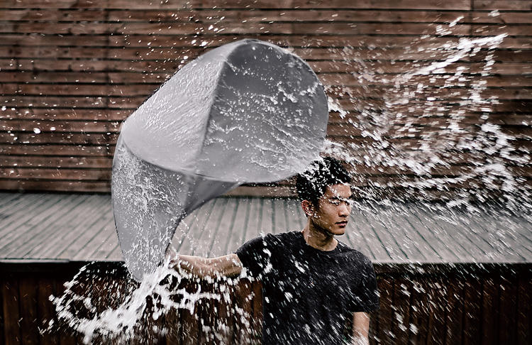 <p>It's honed to tackle sideways rain just as well as drops that fall directly down on your head.</p>