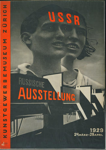 <p>A 1929 poster by El Lissitzky (Russian, 1890-1941) for an exhibition at the Zurich Kunstgewerbe Museum.</p>