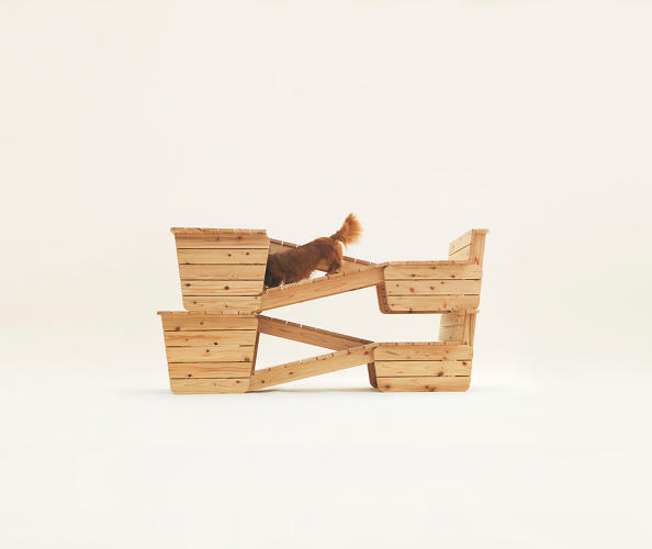 <p>Aterier Bow-Wow created this series of ramps for the Dachshund. It's a means for the dog to gain elevation without straining its long body.</p>