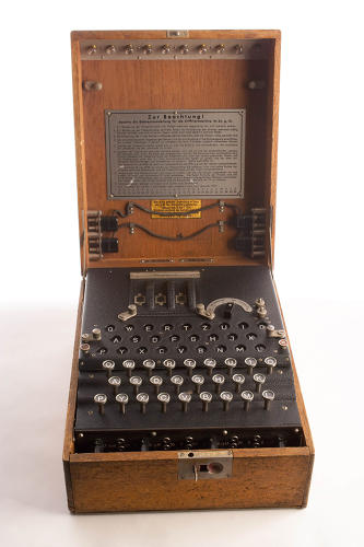 <p>During World War II, the German military and intelligence services used Enigma cipher machines to create what they thought were unbreakable messages. This intelligence coup shortened the war by an estimated two years.</p>