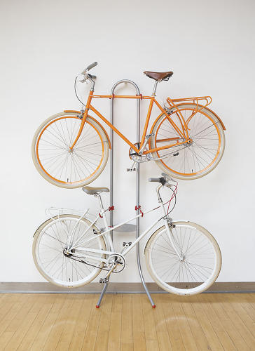 <p><a href=&quot;http://www.fastcodesign.com/1669846/a-bike-rack-that-relies-on-basic-physics-not-screws-to-stay-steady#6&quot; target=&quot;_self&quot;>The Michelangelo</a> isn't the most glamorous gift on this list, but it may be the most effective, according to its many fans. The two-bike stand requires zero wall mounting, instead relying on two curved legs that let the stand itself lean against any surface.</p>