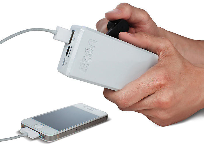 "<p>For every minute of hand-cranking, this <a href=&quot;http://www.fastcodesign.com/1671168/this-hand-cranked-cell-phone-charger-is-an-essential-disaster-tool#1&quot; target=&quot;_self&quot;>cellphone charger</a> delivers 30 seconds of talk time. It can also be an invaluable tool during power outages for calling 911 or sending ""a few critical texts."" BoostTurbine is available directly from <a href=&quot;http://www.shopetoncorp.com/detail/ETO%2BNBOTU2000%2BBLK&quot; target=&quot;_blank&quot;>Eton for $60</a>.</p>"