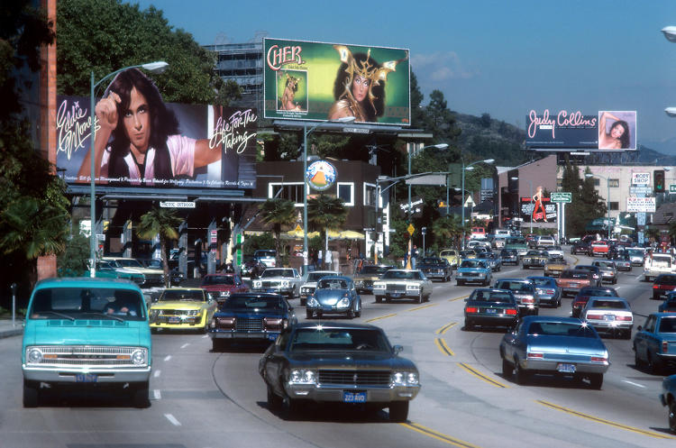 <p>Throughout the '70s, the rock and roll billboard on the Strip was a certifiable <em>thing</em>.</p>